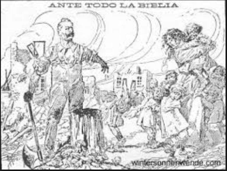 Kaiser Wilhel hackt höchstpersönlich Kinderhände ab