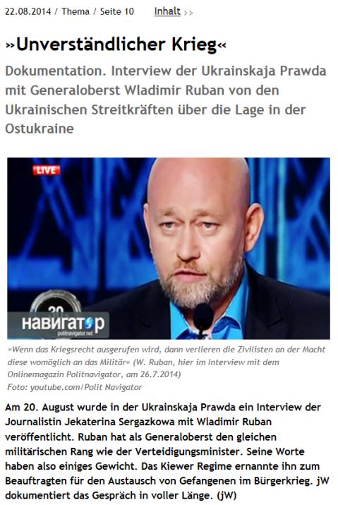 Junge Welt, 22.08.2014