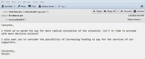 09.01.2014, Email Klitschko