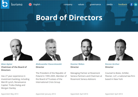 burisma.com, board of directors