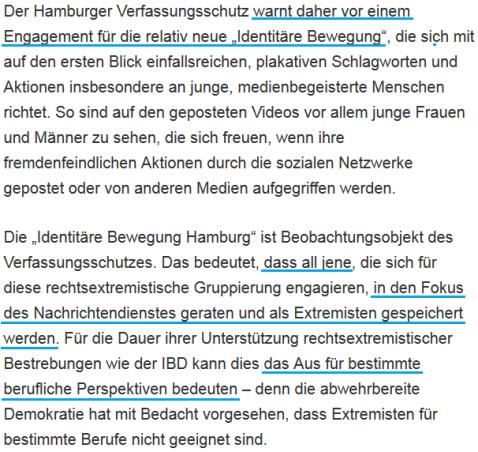 (Quelle: http://www.hamburg.de/innenbehoerde/6717702/verfassungsschutz-identitaere/; 16.08.2016)
