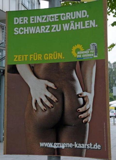 NRW-Kommunalwahl - Wahlplakat Grüne
