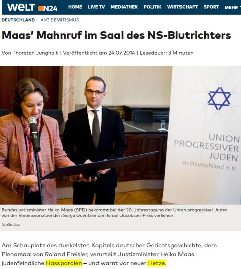2014-07-24_antisemitismus_maas_mahnruf_im_saal_des_ns_blutrichters_welt