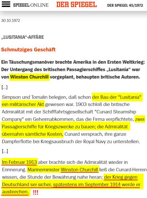 1972-10-30 SPIEGEL_LUSITANIA_AFFÄRE_Schmutziges_Geschäft_DER_SPIEGEL_45_1972
