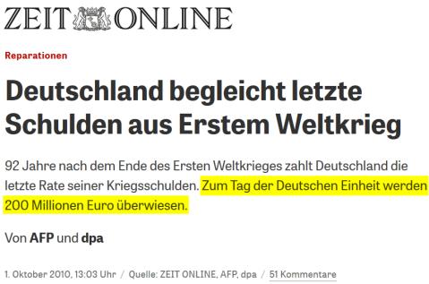2010-10-01 Reparationen_Deutschland_begleicht_letzte_Schulden_aus_Erstem_Weltkrieg_ZEIT_