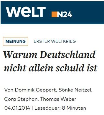 2014-01-04 WELT_Erster_Weltkrieg_Warum_Deutschland_nicht_allein_schuld_ist_WELT