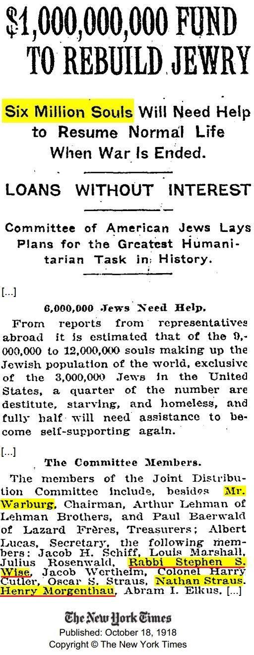 1918-10-18 NYT $1,000,000,000 fund ton rebuild to jewry