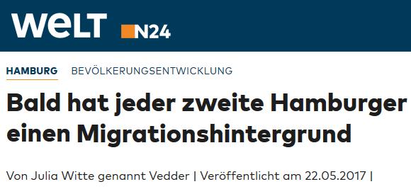 2017-05-22_Hamburg_Bald_hat_jeder_Zweite_einen_Migrationshintergrund_WELT 01