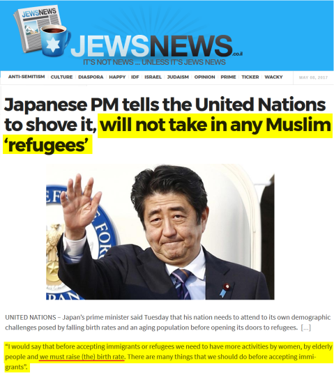 2017-05-08 JEWSNEWS__Japanese_PM_tells_the_United_Nations_to_shove_it_will_not_take_in_any_Muslim_r