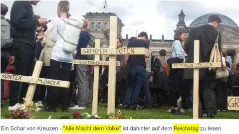 2015-06-21 TAGESSPIEGEL_Protestaktion_Die_Toten_kommen_vor_Bundestag_50_Demonstranten_beim_Marsch_de