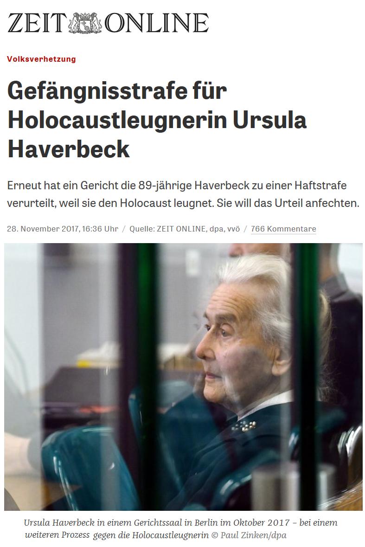 2017-11-28_ZEIT_Volksverhetzung_Gefängnisstrafe_für_Holocaustleugnerin_Ursula_Haverbeck_ZEIT_