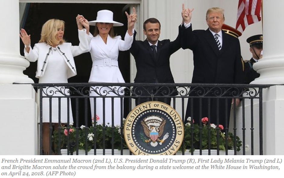 2018-04-24_dailysabah.com_Trump_welcomes_Macron_to_White_House_for_1st_state_dinner_as_US_president_Dail